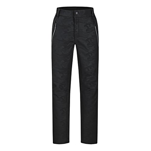 emansmoer Homme Camo Pantalon Softshell Doublé Polaire Coupe-Vent Imperméable Outdoor Sport Pantalon de randonnée Escalade
