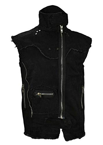 LUCYFIRE fashion Gothic Endzeit Weste Schwarz-L