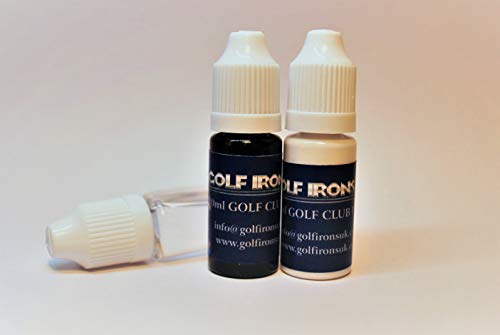 Golf Club Paint, Black & White, Plus Cleaning Solution, Paint Fill Numbers Letters, Logos onto Existing Golf Club Graphics -