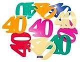 Folat 8714572616027, Coriandoli per il quarantesimo - compleanno 40 anni