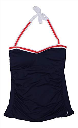 Nautica Bandeau-Tankini-Oberteil, schlanker Schnitt - Blau - Medium