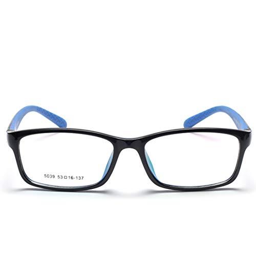 Chengduaijoer Kinder Silikon rutschfeste Gläser Nicht verschreibungspflichtigen Brillen für Frauen Männer (Color : Black)