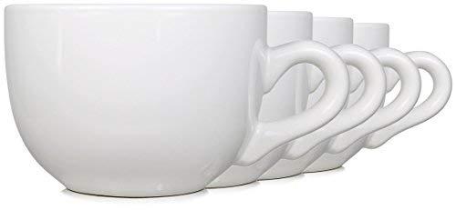serami Klauenhammer Keramik Jumbo Schüssel Tassen, W/Dicke Wände, Griff, und breit Mund, Set von 4 -