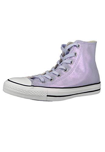 Lila Converse Sneakers (Converse Damen Chuck Taylor All Stars Hohe Sneaker Violett (Oxygen Purple/Black/White 000) 38 EU)