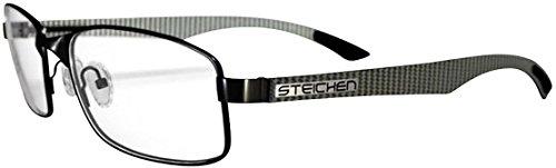 Steichen Optics White Carbon Grey Lunettes de jeux pour Ordinateur Portable 7b1cf3f15486