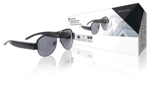 Lleve estas gafas de sol con cámara oculta para grabar todas sus actividades. Las gafas de sol son perfectas para realizar grabaciones ocultas y grabar actividades deportivas como ski o ciclismo.