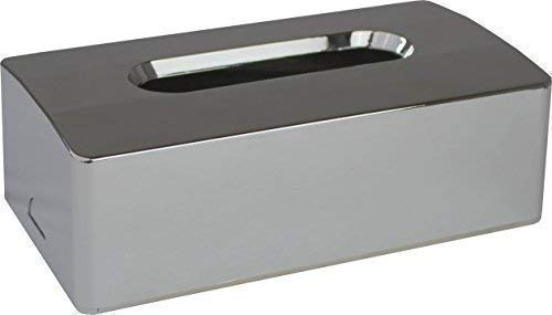 Kosmetiktuchbox 2- teilig verchromt 26,0 x 13,4 x 8,24 cm Kosmetikbox von Medi-Inn