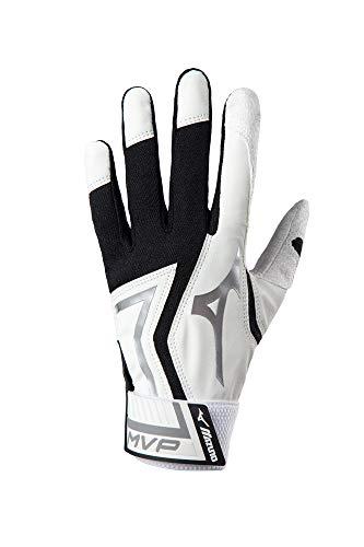 Mizuno MVP Baseball-Handschuhe, Jungen, MVP YTH, weiß/schwarz, Jugend Medium