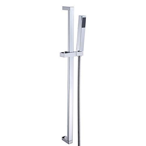 TYSYA Hochdruck-Rechteck Handheld Duschkopf mit Schlauch-und Slide-Bar Modern Design Lifted und Adjustable (Mit Duschkopf Slide Bar)