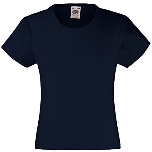 Fruite of the Loom Mädchen Valueweight T-Shirt, vers. Farben Deep Navy