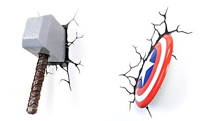 captain-america-and-thor-3d-deco-wall-light-nightlight-deluxe-set-shield-hammer