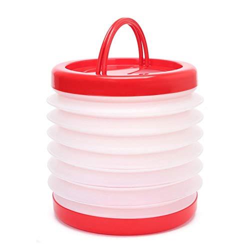 Cubo de Agua Plegable Plástico Silicona 15 litros - Balde Plegable para...