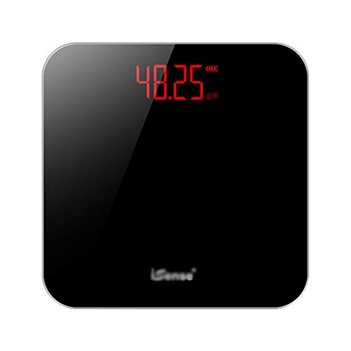 LWZ-Waagen Personenwaagen Elektronische Waage Genaue Anzahl Erwachsene Gewichtsverlust Waage Mini Haushalt Badezimmer USB Lade Versteckte Display 30 × 30 cm 180kg Kapazität