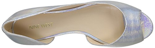 Nine West Bachloret Synthétique Chaussure Plate SlvrMt Mt