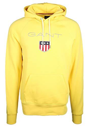 GANT Herren Shield Sweat Hoodie Kapuzenpullover, Gelb (Lemon Zest 720), XXX-Large Gelber Hoodie Sweatshirt