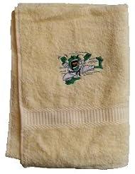 Handtuch aus Frottee mit Bestickung Kampfsportmotiv