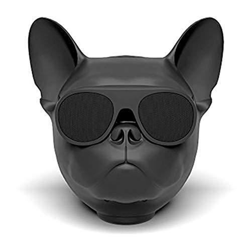 FASBHI Bluetooth-Lautsprecher mit Hundekopf, tragbarer drahtloser Bluetooth-Lautsprecher, wiederaufladbares HD-Audio und Bass, Smart Bluetooth Stereo Black