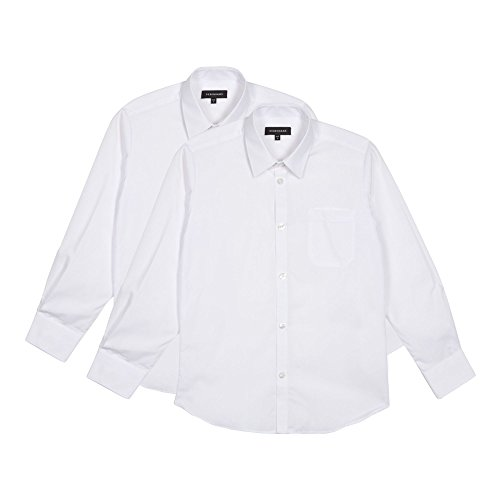 Debenhams Pack Of Two Boy's White Long Sleeved School Shirts