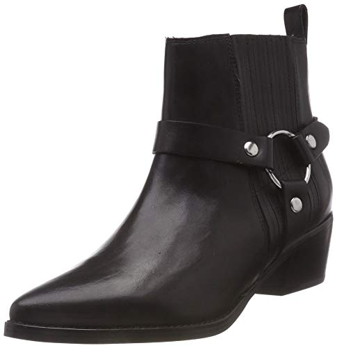 Damen-harness Boot (Steve Madden Damen Powerful Ankle Boot Stiefeletten, Schwarz (Black Leather 017), 38 EU)