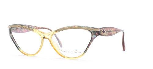 Christian Dior Damen Brillengestell Grün Green Yellow