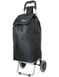 Hoppa Black Lightweight hard wearing in microfiber shopping trolley