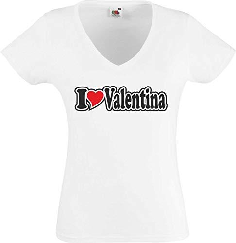 062456549d97 Black Dragon T-Shirt Women White V-Neck - I Love with Heart -
