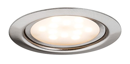 Paulmann 935.53 Möbel EBL Set LED 3x4,5W 65mm Eisen gebürstet 93553 Spot Einbaustrahler Einbauleuchte