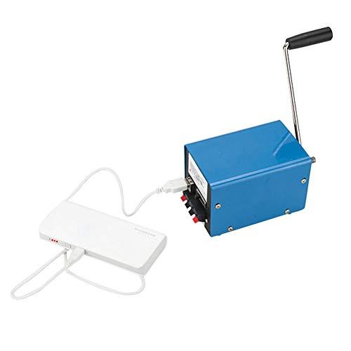 Handgekurbelt Generator Katastrophennotfall Haushalt Tragbarer Stromgenerator USB Mobiles Computer-Ladegerät DIY Generator Handkurbel Stromerzeuger Mini Tragbarer Generator Outdoor 20 Watt -