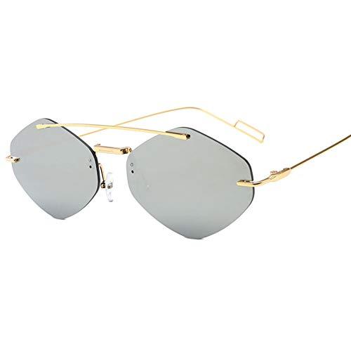 Yuanz Mode Rot Schwarz Quadrat Sonnenbrille Frauen Marke Trendy Alloy Double Beam Shades Goggle Weibliche Sonnenbrille Uv400,5