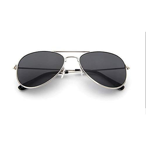 8Eninine Flash/Mirrored Bleifreie Mode Aviator Kids Sonnenbrille Baby Sonnenbrille Silber & Schwarz