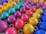 Wiesenhof frische Ostereier gefärbt gekocht 30 Stück bunte Eier Lage MHD ca. 28...