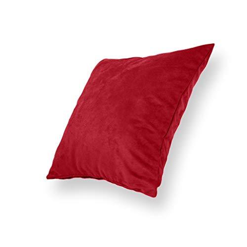 Mikrofaser-stuhl-bett (Deko- Zierkissenhüllen für Wohnzimmer, Sofa, Couch, Bett, Stuhl im 2er-Pack aus Mikrofaser, 50x50 cm, (rot))