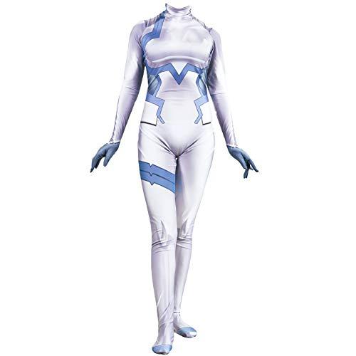 ostüm Spiel Animation Strampler Liebling in der Frankxx 02 Jumpsuit Zero Two Cosplay Siamesische Strumpfhose ()