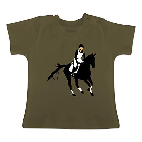 Sport Baby - Vielseitigkeitsreiten - 3-6 Monate - Olivgrün - BZ02 - Baby T-Shirt Kurzarm