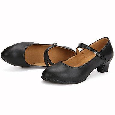 Scarpe da ballo-Personalizzabile-Da donna-Balli latino-americani Jazz-Tacco su misura-Di pelle Brillantini-Nero Rosso Argento Dorato Black