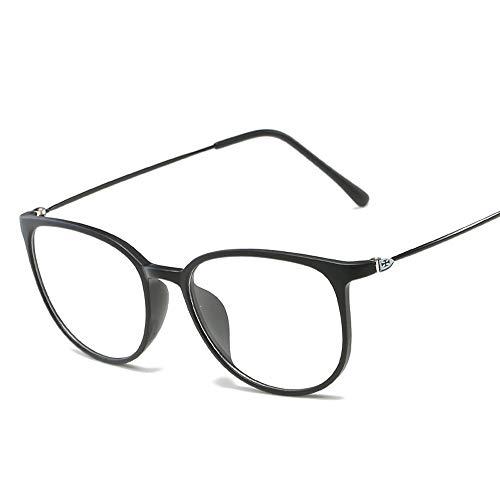 Frame Ultralight Special Glasses Frame Plain Glasses Unisex-Brillen mit großem Rahmen Brille (Color : 02 schwarz, Size : Kostenlos)