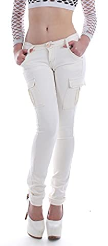 Style-Station24 - Jeans - Cargo - Femme - Blanc -