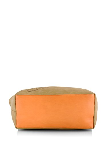 Butterflies Women's Handbag (Beige) (BNS 0589BG)