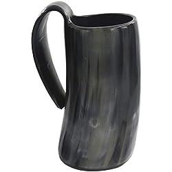 YANGTT Natural Viking Horn Horning Mug Cerveza Vino Cerveza Tumbler Ox Horn Beaker Vasos Cerveza Horning Horn Tazas