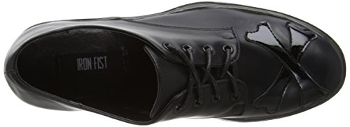 Iron Fist - Hey You Guys Cleated Sole Flat, Scarpe con plateau Donna Black (Black)