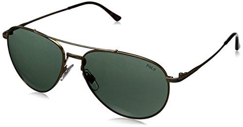 Ralph lauren polo occhiali da sole mod.3094 aged bronze/green, 59
