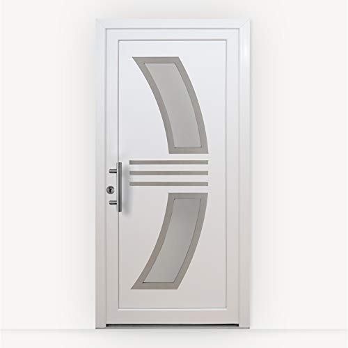 HORI® Haustür Monaco I Kunststoff Haustüre mit Glaseinsatz I Weiß I Größe 1900 x 880 mm I DIN links