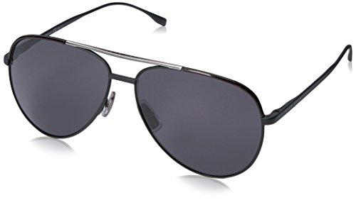 BOSS Hugo Herren 0782/S 3H 003 Sonnenbrille, Schwarz (Matt Black/Grey Pz), 60