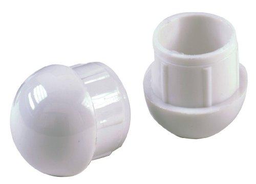 Shepherd Hardware 3015rund interne Patio-Möbel Dome Einsatz Tipps, 1, 4er Pack, weiß -