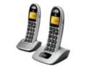Motorola CD302 Schnurlostelefon, 2-Packung schwarz/Silber