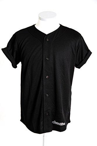 scarcewear Tinta Unita Nero Baseball Jersey taglia