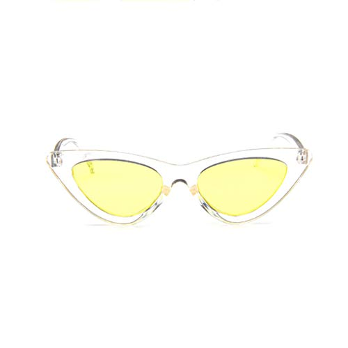 REALIKE Damen Neue Sonnenbrille Mode Katzenauge Cat-Eye Schmal UV-400 Designer-Brille High-Mode Farbvariation Dreieckig Sunglasses Travel Eyewear (Farbe : A-P)