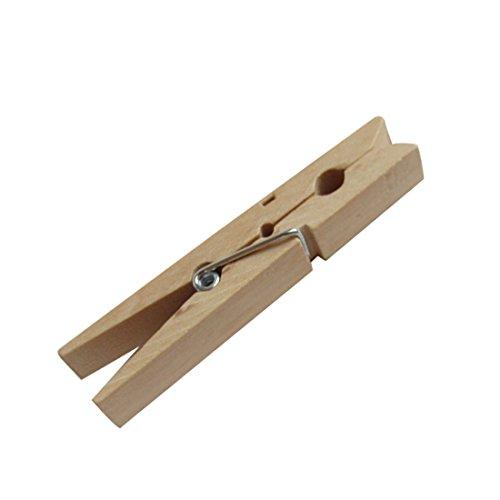 50Mini Holz Wäscheklammern 25mm natur Holz Kleidung Craft Clips Hochzeit Party Dekorationen