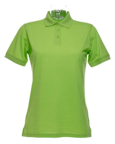 Kustom Kit Klassik Damen Kurzar Polo Shirt Grün