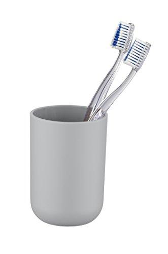 Wenko 22246100  Brasil Grau Zahnputzbecher-/ Zahnbürstenhalter, für Zahnbürste und Zahnpasta, absolut bruchsicher,7,3 x 10,3 x 7,3 cm, Grau